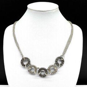 Lia Sophia Silver & Gunmetal Gray Chain Necklace
